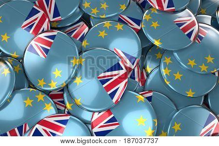 Tuvalu Badges Background - Pile Of Tuvalu Flag Buttons.