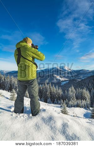 Photographer With Camera In A Carpathians