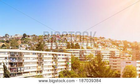 Residential Area In Vina Del Mar, Chile