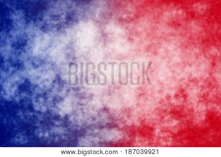 Abstract patriotic red white and blue blur background for party celebration, voting, July poster, memorial, tie dye design, labor day, watercolor pattern, independence and president election