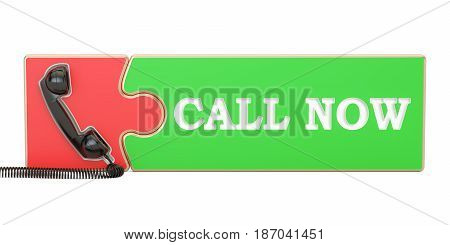 call now concept 3D rendering isolated on white background