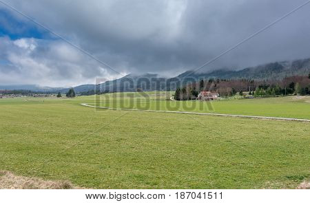 French countryside. Landscape on the plateau of Vercors.