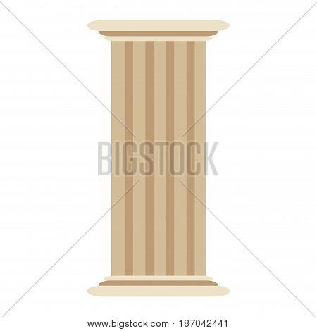 roman column antique architecture construction decoration vector illustration