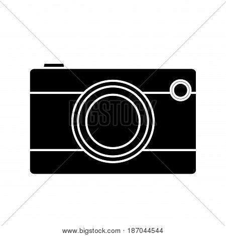 photographic camera icon over white background. vector illlustration