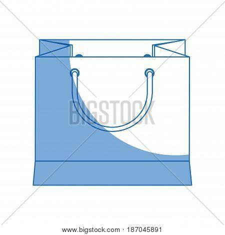 paper gift bag shopping merchandise vector illustration