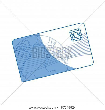 banking credit card plastic money buying vector illustration
