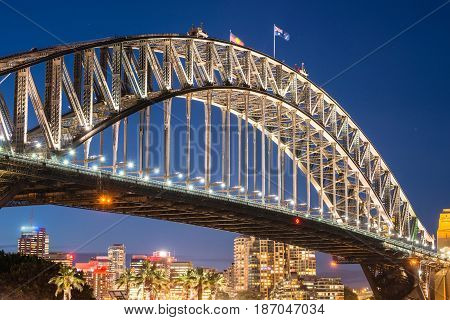 Harbour bridge one of the famous iconic landmark of Sydney, New South Wales, Australia.