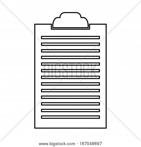clipboard document list paper work vector illustration