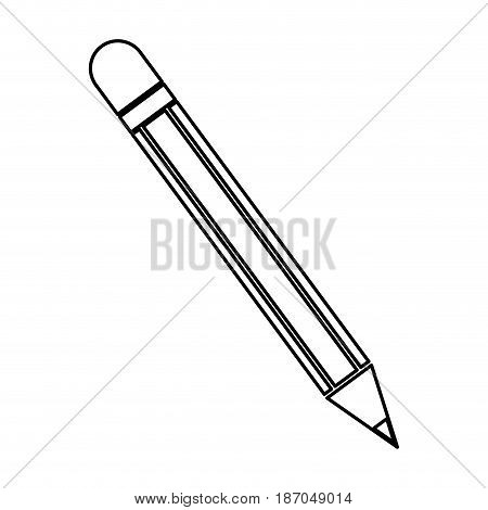 pencil utensil school write wooden line vector illustration