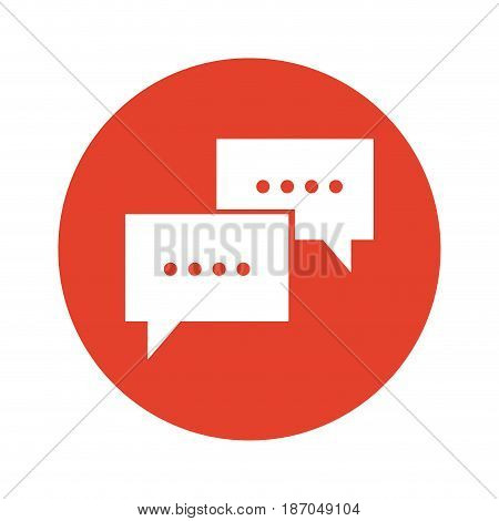 communication bubble speech dialog message vector illustration