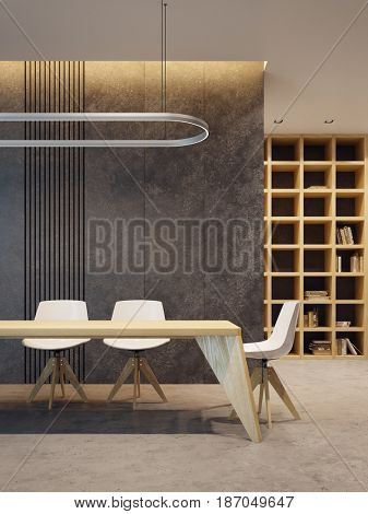 minimalism style interior, 3d rendering