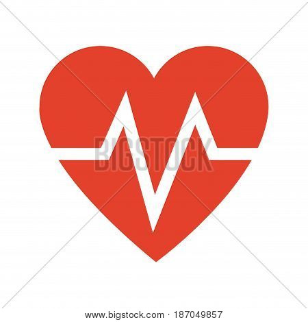 heart beat health care medical vector illustration