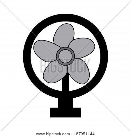 electric fan appliance air device vector illustration
