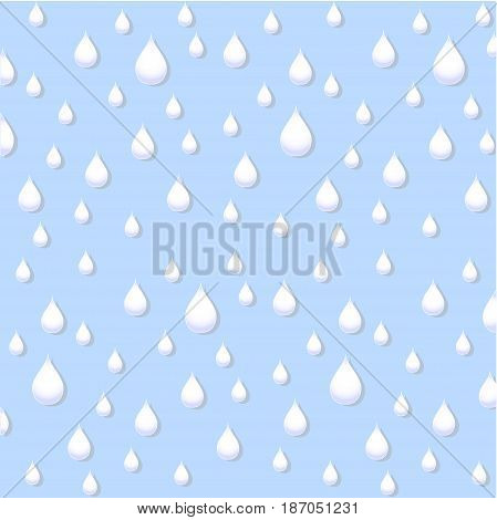 Rain drops on blue background, stock vector illustration