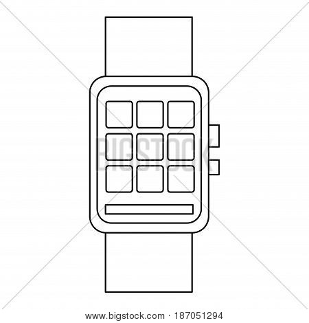 smart watch wearable technology app icon vector illustration