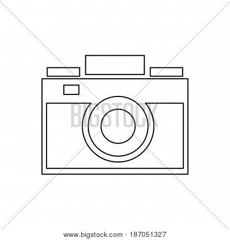 photo camera picture device flash lent vector illustration