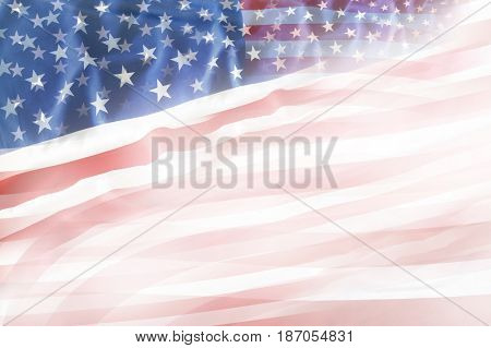 Abstract USA flag. Copy space