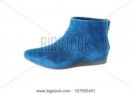 blue women's suede boot