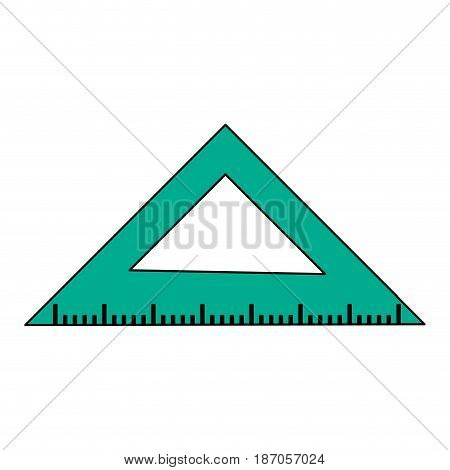 color image cartoon green ruler squad for school vector illustration