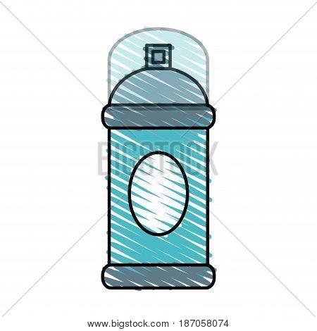 color crayon stripe cartoon aerosol can with lid vector illustration