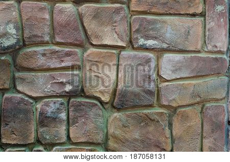 The texture of the wall, folded from the processed smooth rubble stone.