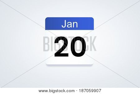 20 Jan calendar graphic illustration