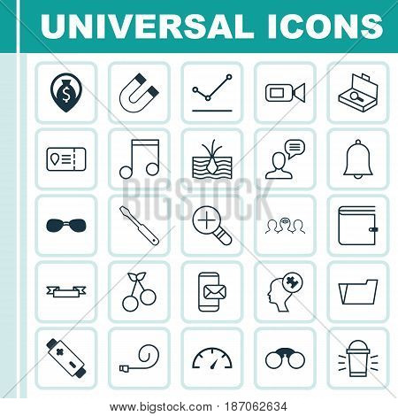 Set Of 25 Universal Editable Icons. Can Be Used For Web, Mobile And App Design. Includes Elements Such As Growing Plant, Placard, Trip Access And More.