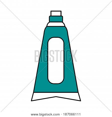 color silhouette image cartoon toothpaste for dental care vector illustration