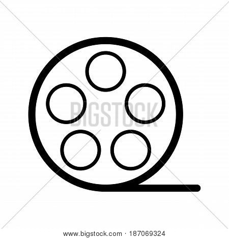 film Icon. Vector illustration of video concept isolated on white. eps 10