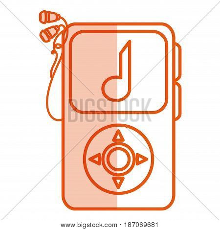 music player mp3 isolated icon vector illustration design