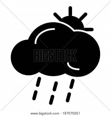 lightning rain cloud sun meteo icon. Weather icon on white background. eps 10