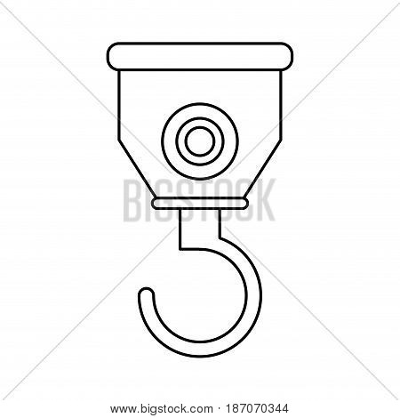 crane hook icon image vector illustration design  single black line