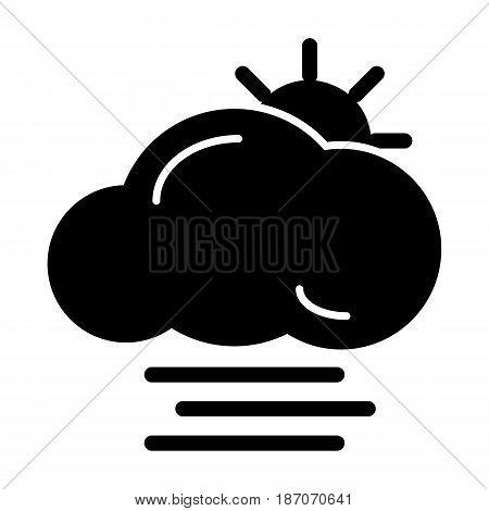 fog icon vector, solid logo, pictogram isolated on white, forecast weather symbol. eps 10