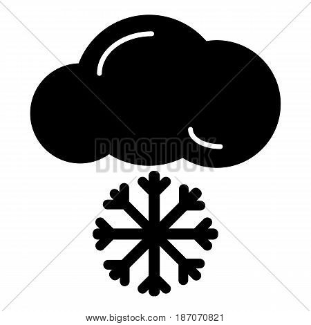 snow cloud meteo icon. vector isolated on white. eps 10