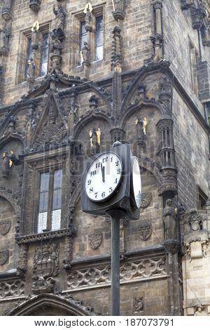 Old Town Charles Bridge tower street clock Pague Czech Republic