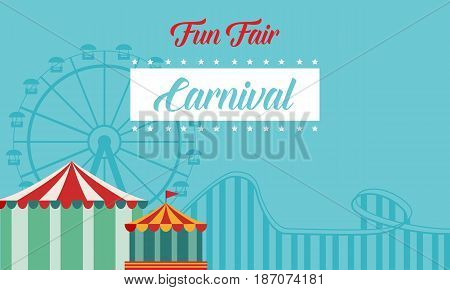 Collection background carnival funfair style vector illustration