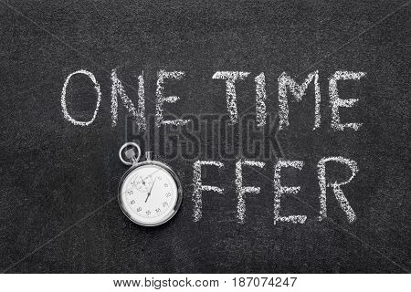 One Time Offer Watch