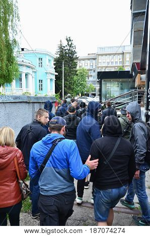 Kharkov, Ukraine - May 17, 2017: The Organization Of Ukrainian Nazis And Patriots Of The