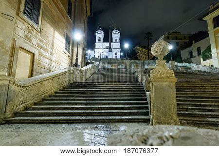 The Spanish Steps At The Night
