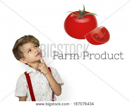 Organic Fresh Tomato Farm Product Vegetable Graphic