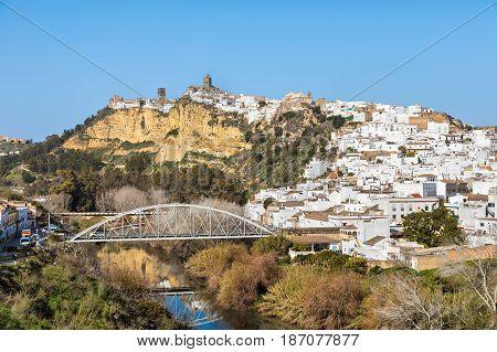 Historical town Arcos de la Frontera Cadiz province Andalusia Spain