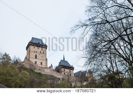 Karlstejn Castle - large Gothic castle founded 1348 by Charles IV, Czech Republic
