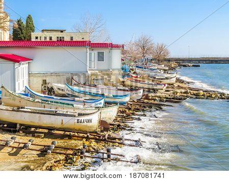 Fishing Boats On The Seashore