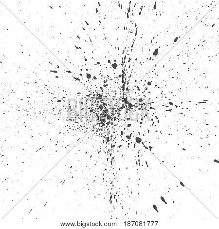 Black Drops of Ink or Paint messy vector Background