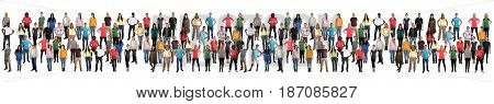 Group Of Young People Background Crowd In A Row Colorful Multicultural Multi Ethnic