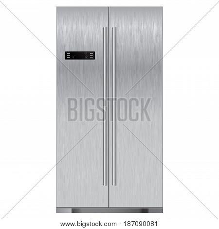 Refrigerator. Vector illustration isolated on white background