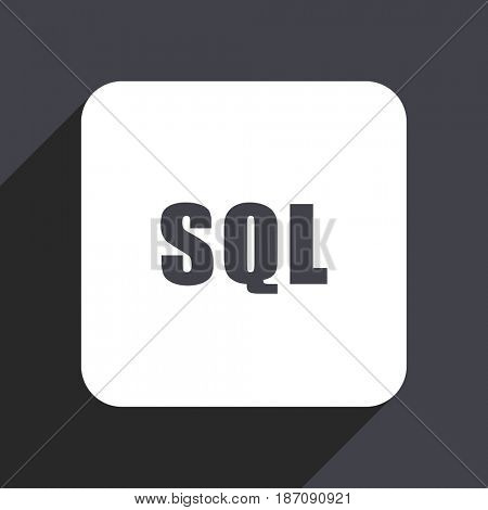 Sql flat design web icon isolated on gray background