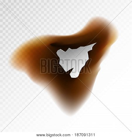 Vector illustration of abstract brown burnt blot.