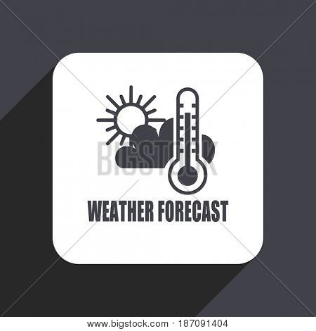 Weather forecast flat design web icon isolated on gray background