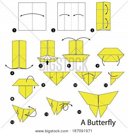 step by step instructions how to make origami A Butterfly